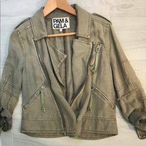 Pam & Gela Olive Jacket, Size Petite